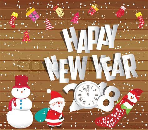 happy  year  christmas stock vector colourbox