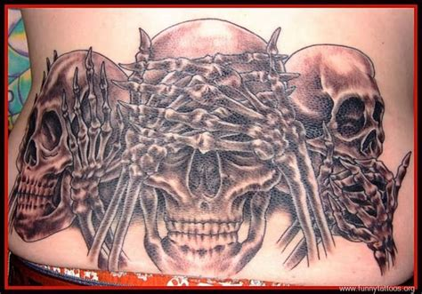 evil tattoo designs for men no evil skulls on back