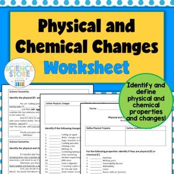 physics and chemistry secondary chemical changes worksheet photos jplew