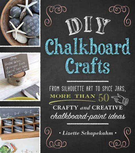 diy chalkboard crafts  silhouette art  spice jars