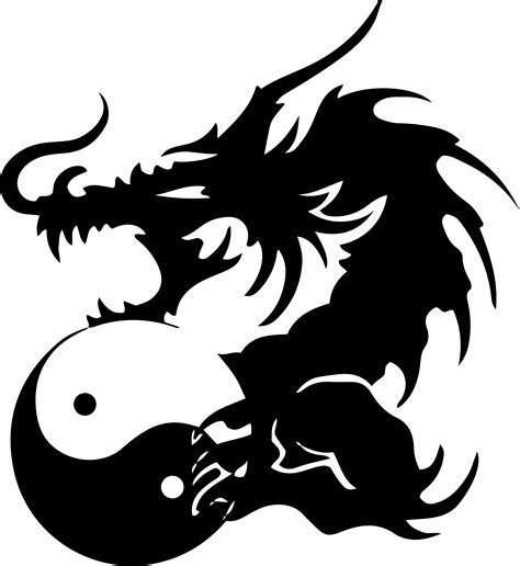 clipart tribal dragon 22