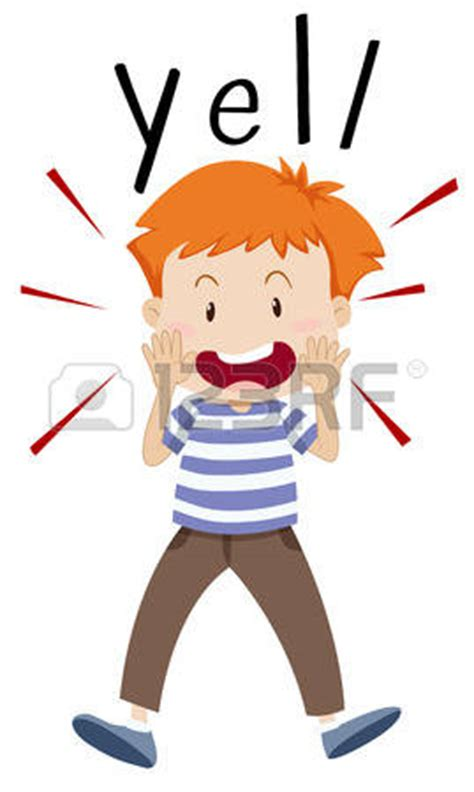 clipart yelling screaming clipart yelling pencil and in color screaming