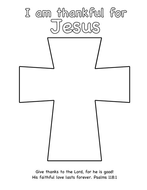 cross template thanksgiving craft thankful for jesus egglo entertainment