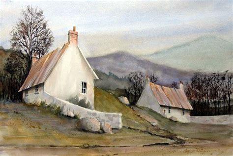 Devonshire Cottages by Charles Rowland Artwork Devonshire Cottages Original