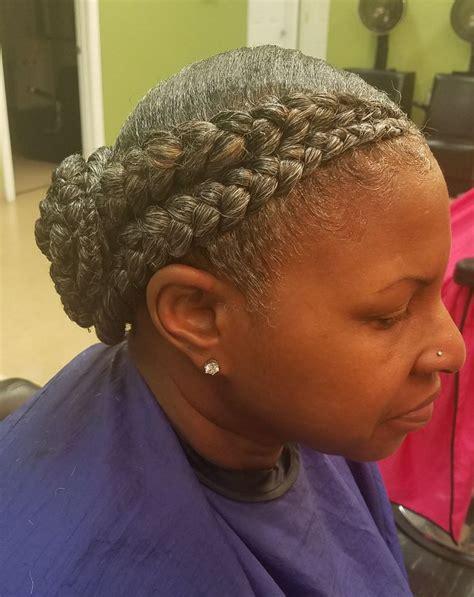 gray feed  braids natural braided hairstyles grey