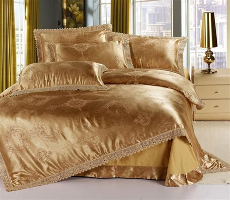 silk comforter sets luxury gold jacquard satin cotton silk comforter sets