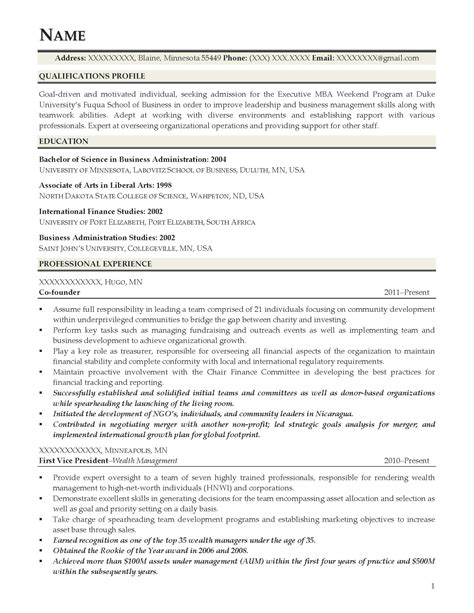 Elaboration Of Mba by Modern Mba Student Resume Model Elaboration Exle