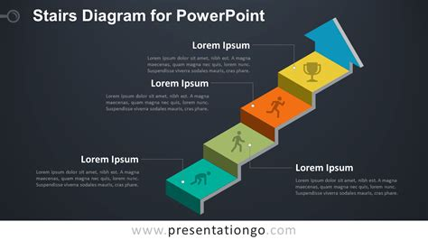 Stairs Diagram For Powerpoint Presentationgo Com Powerpoint Templates Size Of Slides