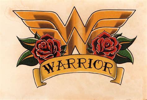 logo tattoo flash wonder woman crest roses and banner tattoo flash art hand