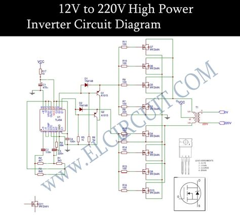 6v to 220v inverter circuit diagram 12v to 220v inverter dc to ac voltage inverter tl494