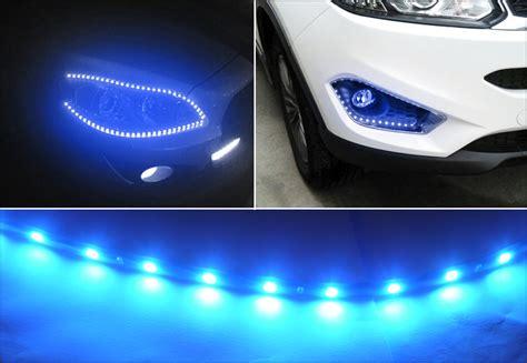 led ice cycle lights 6x flexible strip 30cm 15 led ice blue car motorcycle