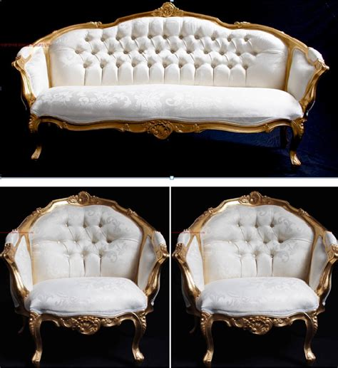 ornate couch an ascot three piece salon set sofa plus two armchairs
