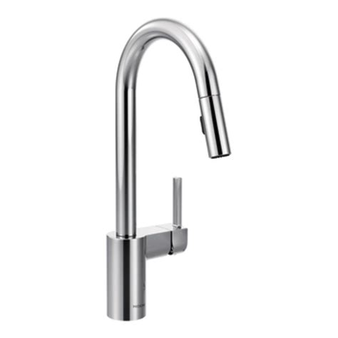 moen 7565 align one handle high arc pulldown kitchen faucet chrome touch on kitchen sink