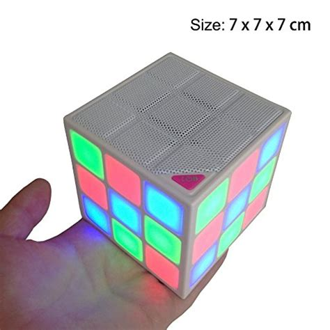 Gratis Ongkir Goestime Magic Cube Portable Bluetooth S Diskon wayzon magic rubik s cube portable led wireless bluetooth speaker