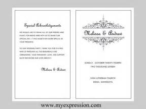 wedding program templates free microsoft word best photos of event program template in word wedding