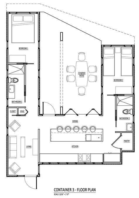 Shipping Container House Floor Plan | sense and simplicity shipping container homes 6