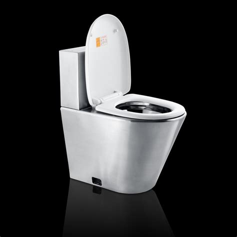 stainless steel toilet stainless steel toilet with cistern and pvc seat cover