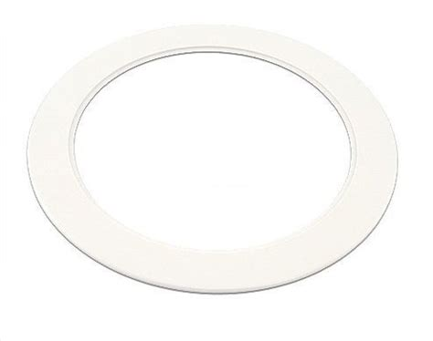 recessed lighting trim rings oversized plastic white light trim ring recessed can 6 quot inch