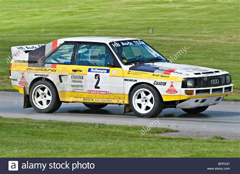Audi Track Car by Audi Quattro Group B Historic Rally Car On Track At Oulton