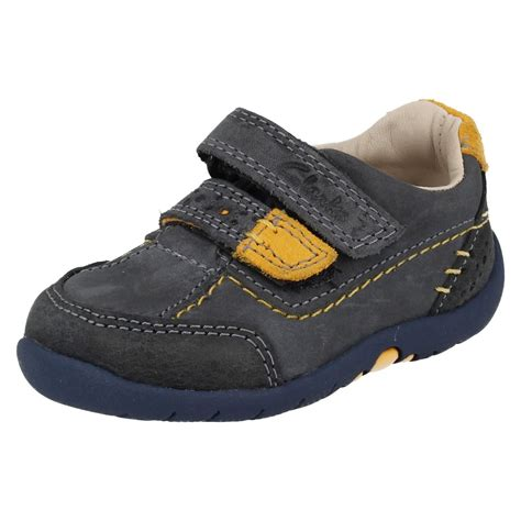 boys clarks walking shoes softly lo ebay