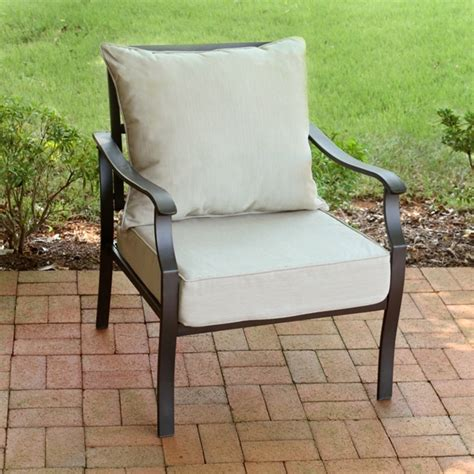 Outdoor Chair Cushions.Set Of 2 Outdoor Seat Back Chair