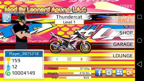download game drag motor indonesia mod apk drag racing apk mod motor indonesia satria fu mio supra