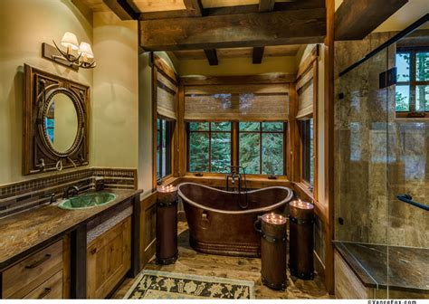 in tahoe quot cabin quot rustic bathroom