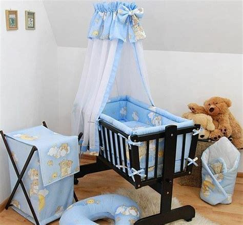 baby nursery bedding set 7 baby crib bedding set fits nursery rocking swinging cradle ladders blue ebay