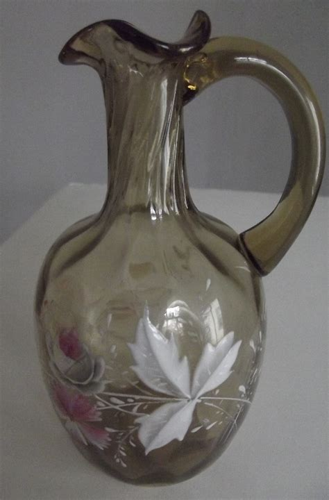 pretty painted pitcher vase from fhtv on ruby