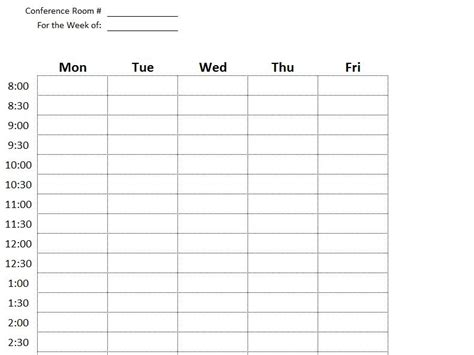 conference room reservation template conference room reservation spreadsheet excel calendar