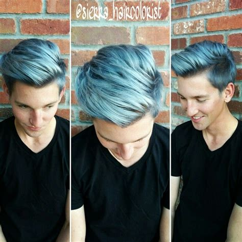 steely gray blue hair color for men blue hair dont care men color hair too lanza color mens
