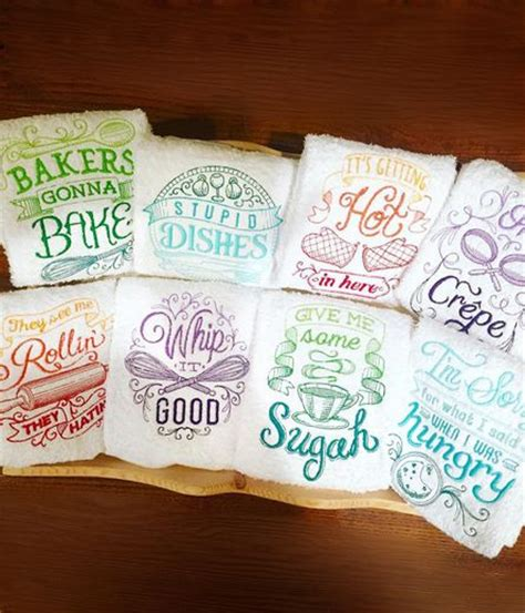 machine embroidery designs for kitchen towels 25 unique machine embroidery projects ideas on