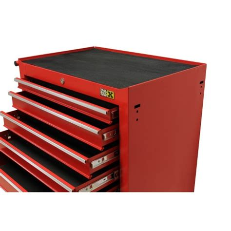 red tool box dresser tool chest 7 drawers red