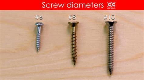 types  screws      woodworking