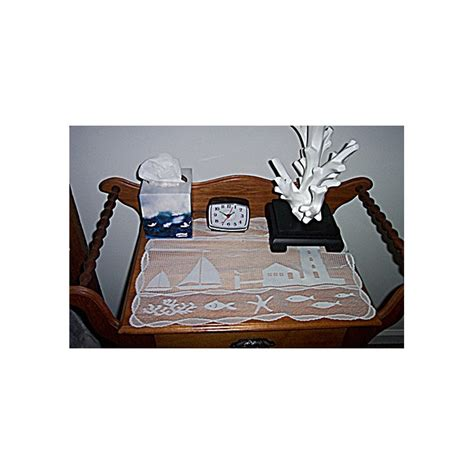 table runner harbor lights 14x62 white heritage lace