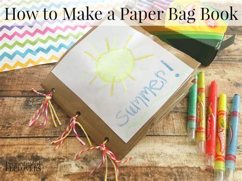 How To Make A Paper Book Bag - how to make a paper bag book for