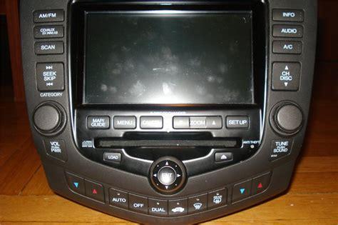 honda accord 2004 radio 2004 honda accord radio display blank