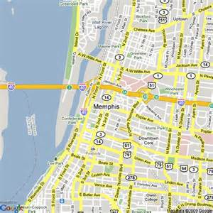 Memphis Map Usa by Map Of Memphis Tennessee United States Hotels