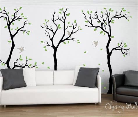 forest wall stickers forest wall decal wall decor removable matte vinyl wall stickers 3 hd wallpapers hd