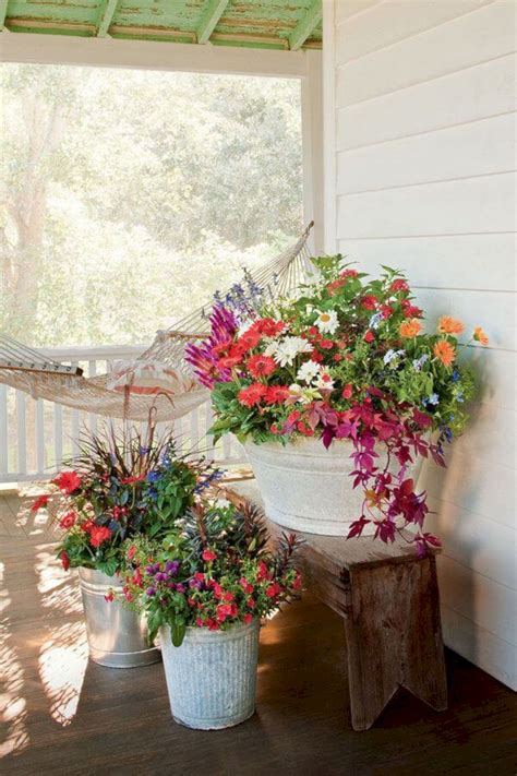 front porch flower planter ideas 47 front porch flower