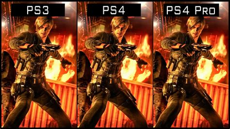 Ps4 Residen Evil 6 Ori resident evil 6 ps4 pro vs ps4 vs ps3 graphics comparison