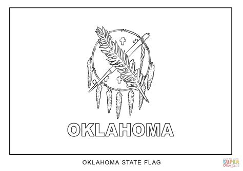 Of Oklahoma Search Flag Of Oklahoma Coloring Page Free Printable Coloring Pages