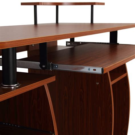table pour tablette homcom bureau meuble informatique table d ordinateur pc