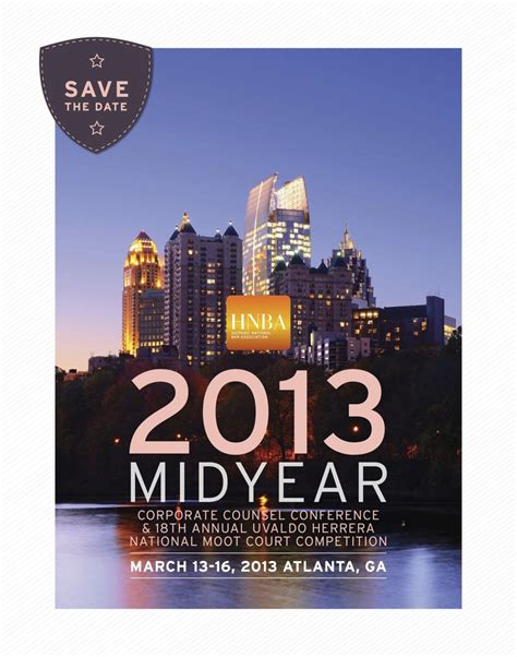 save the date card for the 2013 mid year corporate counsel