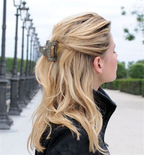jaw clip hairstyles for long hair we love the colder weather here s a great simple