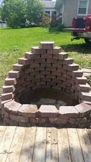 Backyard Horseshoe Pits Build A Fire Pit From Cement Landscape Blocks Diy