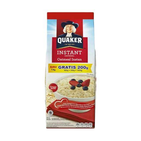 Quaker Instan Oatmeal 800g jual groceries quaker instant oatmeal refill promo menu