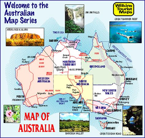 tourist map australia list of major highways