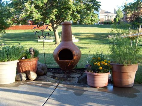 Backyard Chiminea Our New Chiminea Pit Backyard Ideas