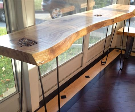 build your own sofa table console couch tables live edge forest